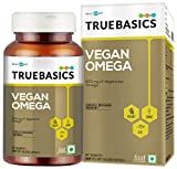 TrueBasics Vegan Omega, 870mg of Vegetarian Omega Fatty Acids, Nutrition Supplement for Heart