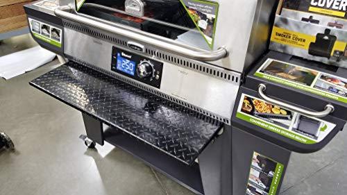 J & O Carts Parts Powder Coated Diamond Plate Folding Shelf for Cuisinart Woodcreek Pellet Grill