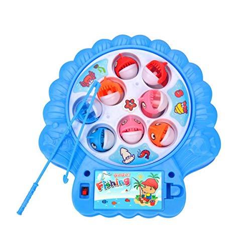 Gugutogo Juego de Pesca con Forma de Concha Creativa Juego de Juguetes Tablero de Pesca Giratorio magnético electrónico Juego de Pesca para niños Juguetes