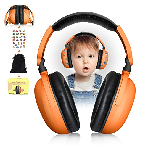 BOAOBOYO Baby Earmuffs with Adjustable Headband, Noise Cancelling Headphones for Kids (0-10 Years), Toddlers, Infants, Hearing Protection Earmuffs for Airplanes Fireworks Concert