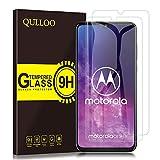 QULLOO Panzerglas für Motorola One Zoom, Panzerglas Schutzfolie 9H Hartglas HD Bildschirmschutzfolie Anti-Kratzen Panzerglasfolie Handy Schutzglas Glas Folie für Motorola One Zoom