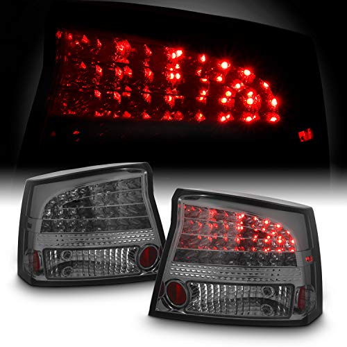 For Dodge Charger Sport Sedan Rear LED Tail Lights Signal Brake Lamps Smoked Pair Left + Right Set