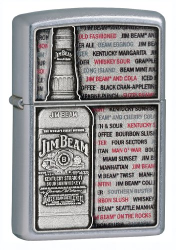 Zippo 2.003.264 Feuerzeuge Jim Beam Emblem - Collection 2013 - Street Chrom