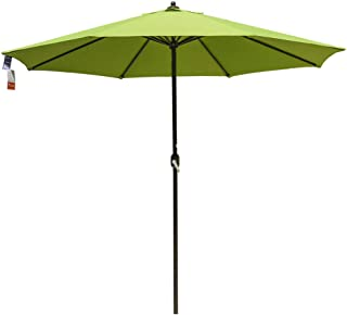 Sundale Outdoor 11 Ft Sunbrella Canopy Patio Market Umbrella Garden Outdoor Aluminum Umbrella with Crank, No Push Button Tilt, Macaw