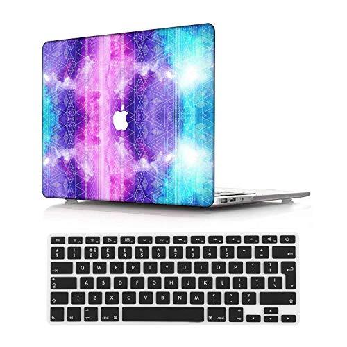 NEWCENT MacBook Pro 15' Funda,Plástico Ultra Delgado Ligero Cáscara Cubierta EU Teclado Cubierta para MacBook Pro 15 Pulgadas con Touch Bar Touch ID(Modelo:A1707/A1990),Galaxia A 156