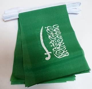 AZ FLAG Saudi Arabia 6 Meters Bunting Flag 20 Flags 9'' x 6'' - Saudi Arabian String Flags 15 x 21 cm