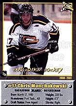 (CI) Chris Manchakowski Hockey Card 2000-01 Saskatoon Blades 18 Chris Manchakowski