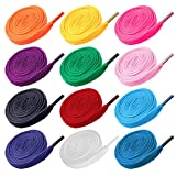 VORCOOL 12 Pairs of Replacement Flat Shoelaces Shoe Laces Strings for Sports Shoes Boots Sneakers Skates (Random Color)