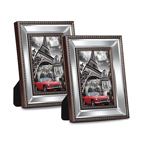 WIFTREY 4x6 Vintage Picture Frames for Wall Mounting or Tabletop,...