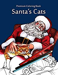 santa cats christmas coloring book