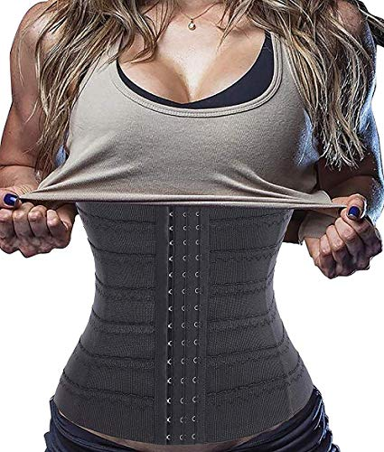 LODAY Compression Short Torso Waist Training Trainer Slimmer Body Shapewear (S, Black)