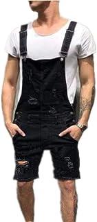 Men's Dungarees Overall Jeans Pants Work Dungarees Jumpsuit Jumpsuit Comfortable Sizes Shorts Lightwash Suspenders Short D...