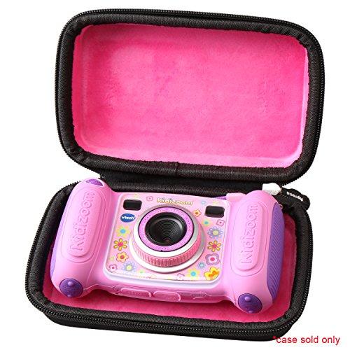 Aproca Duro Viajes Funda Bolso Caso para Vtech Kidizoom Pix / Twist / Kidizoom Duo Cámara Niños Digital (Pink)