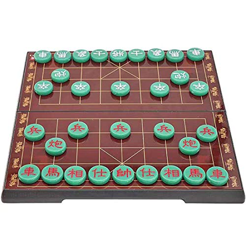 Oggo Chinese Chess Set (Xiangqi) Large with Magnetic Portable Folding Board Traditional Chinese Gift Best Gift for Family