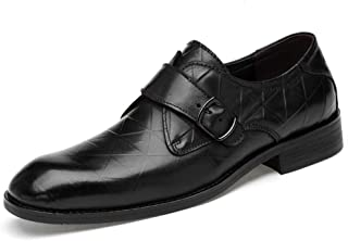 Men's Business Oxford Everyday Classic Rustproofed Metal Buckle Convenient Cover Feet Formal Shoes(Lace Shoe Optional) casual shoes (Color : Black, Size : 45 EU)