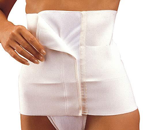 MANIFATTURA BERNINA Sana 55108 (Talla 4) - Faja compresión Abdominal para Mujer Alta 27 cm cinturón postoperatorio con Cierre de Velcro