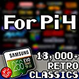 256 GB Retropie SD Card for Raspberry Pi 4 - Retro Classics with Video Previews