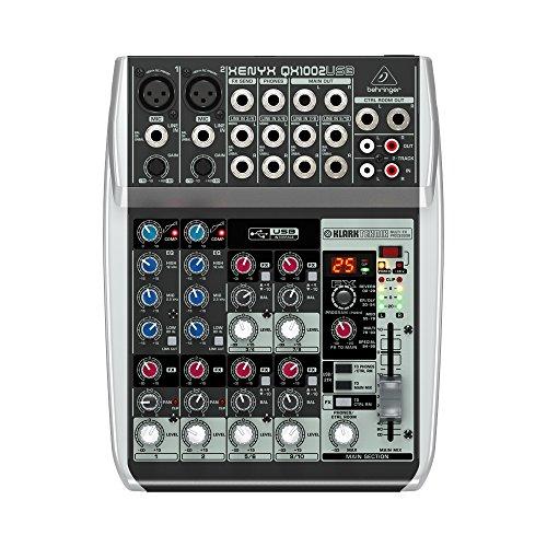 Behringer QX1002USB–Mischbatterie für DJ (107dB, 0,006%, 19,5cm, 24,8cm, 5cm) schwarz