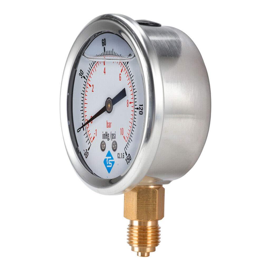 Pumps Plumbing Vacuum Gauge S Case -1-2bar Steel -30-30hg Lowest price challenge psi 2021 autumn and winter new