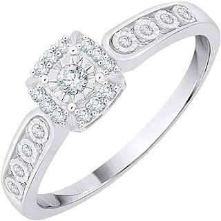 1//10 cttw, Diamond Wedding Band in 10K White Gold Size-11.75 G-H,I2-I3