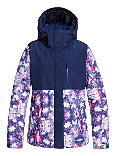 Roxy Damen Snow Jacke Jetty BLOCK - Snow Jacke Für Frauen, Medieval blue Cloudy Day, S, ERJTJ03232