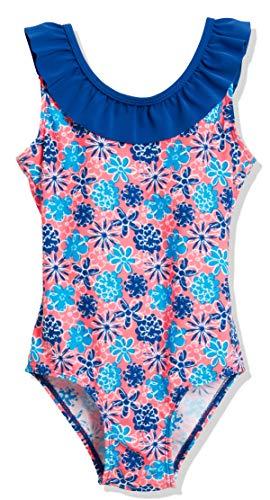 Playshoes Mädchen UV-Schutz Badeanzug Veilchen Einteiler, Mehrfarbig (LACHS 41), 98 (Herstellergröße: 98/104)