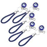 Cuque Blue Eye Amulett, Lucky Eye Schlüsselbundlegierung + Farbige Glasur Eye Keyring Innentür für Outdoor