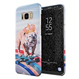 Glitbit Compatible with Samsung Galaxy S8 Case French Bulldog Flying Rainbow Dog Trippy Laser Unicorn Doggo Funny Gift for Dog Lover Thin Design Durable Hard Shell Plastic Protective Case Cover