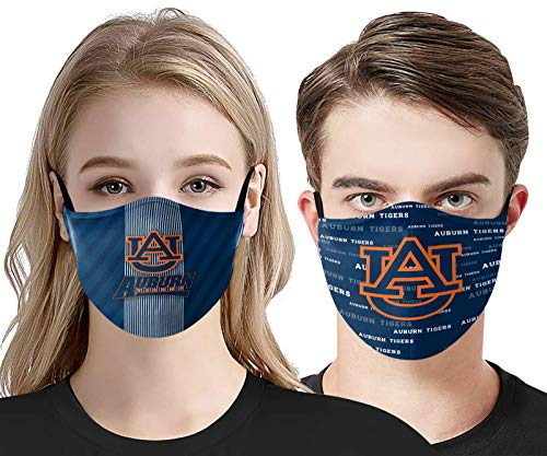Adult Protective Dust-Proof face cover Polyester Auburn face Mask Bandana Washable Reusable Tigers Covering for Men and women