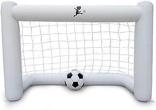 DUDNJC Uppblåsbart fotbollsmål, PVC barn leksak fotboll mål nät bärbar fotboll mål nät uppblåsbar målram med boll fotboll ...