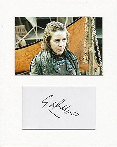 Il Trono di Spade–Gemma Whelan Autentico autografo AFTAL gioiello