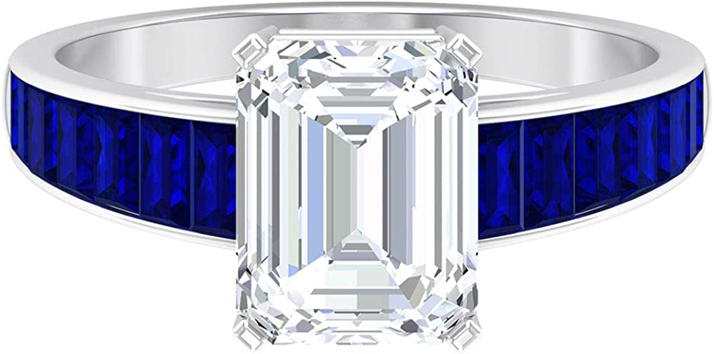7X9 MM Octagon Shaped Max 61% OFF gift Moissanite Ring Solitaire 2.7X1.5 Bagu
