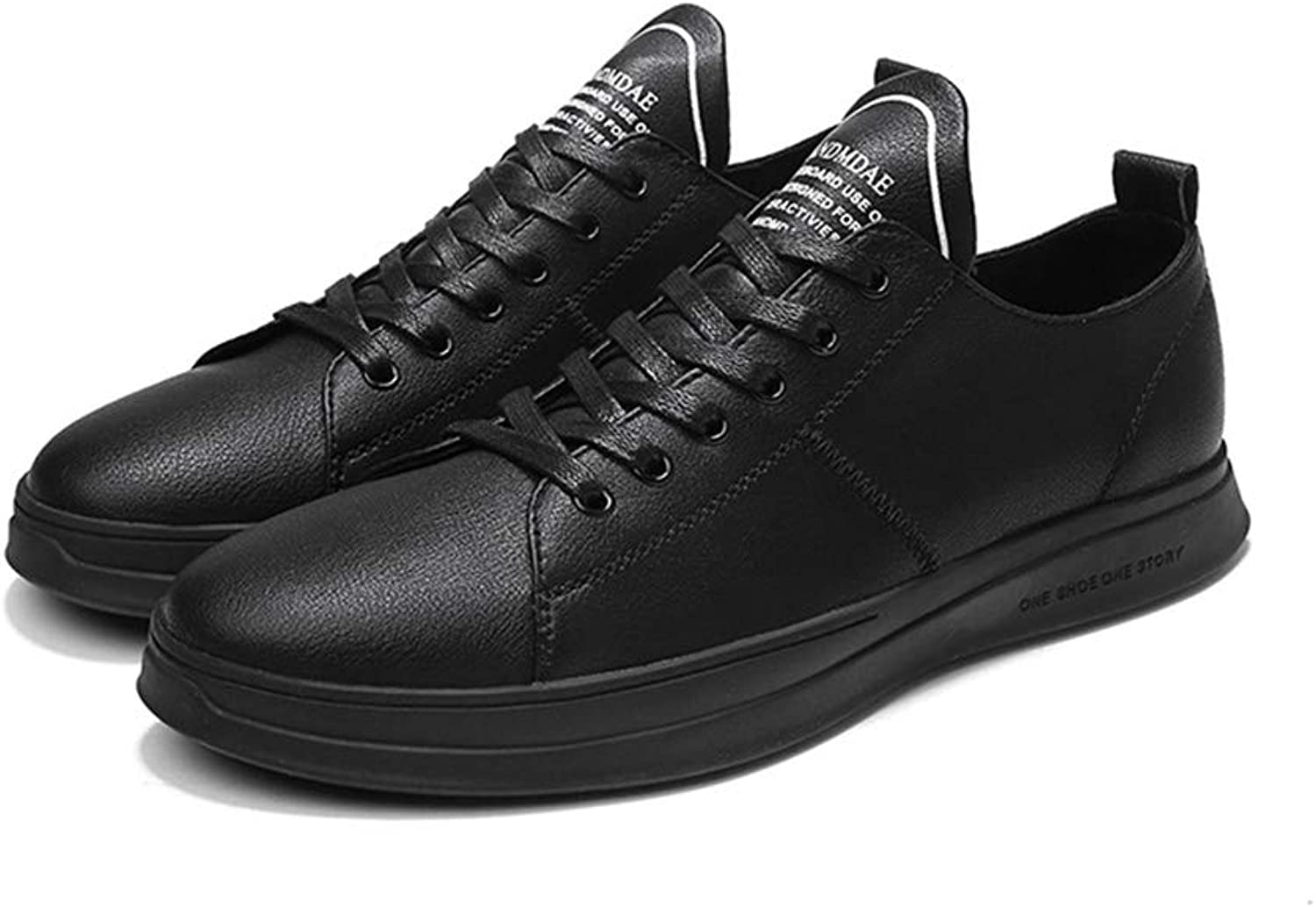 Men's shoes,Spring new Flat Deck shoe Casual Sneakers Road Cycling shoes Walking shoes,black,38