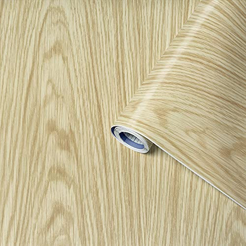 Venilia Klebefolie Kiefer 45 cm x 200 cm Adhesiva Fix Pino de Oregón, Muebles, lámina autoadhesiva para Papel Pintado, Aspecto Natural de Madera, 45 cm x 2 m, Espesor: 0,15 mm, 53327, PVC
