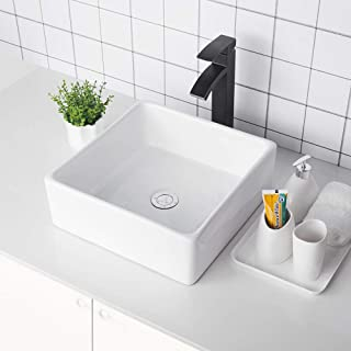 Best square vanity basin white Reviews