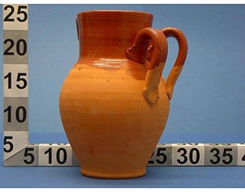 Pentola vaso Pignata In Terracotta con Doppio Manico diam 22 cm bocca larga