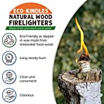 ECO-KINDLES NATURAL WOOD FIRELIGHTERS - 200 Fire Starter Eco Friendly Wood Wool Flamers for Lighting BBQ, Wood Fired…