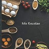 """Mis Recetas: Mi libro de recetas • Libro de cocina personalizado para escribir 100 recetas • 21 x 21 cm • Cuaderno para completar • diseño """"109"""" ... sus mejores recetas en este libro de cocina!"""