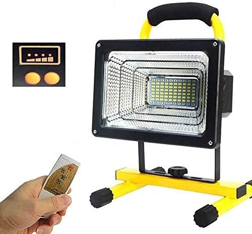Luces de Trabajo LED de iluminación LED 500W 6000lm | Luz de inundación Recargable portátil para Acampar al Aire Libre IP65 Luces de Seguridad de Emergencia Impermeables para el Coche Pesca Excel