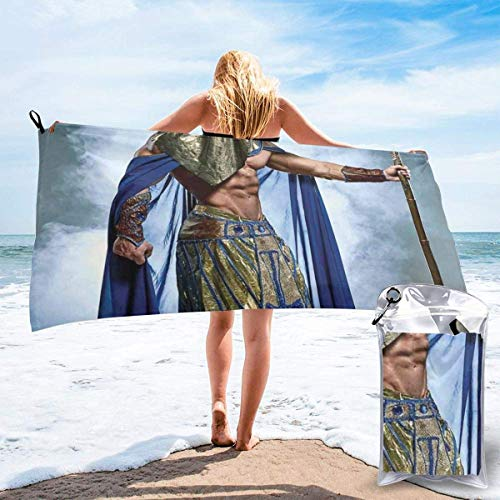 Badtextilien Frottiertücher Strandtücher Quick Dry Beach Towel Tropical Sandy Beach at Summer Sunny Day Holiday Vacation Theme Image Print Microfiber-Sand Free-Lightweight Thin Bath Towels-31.5