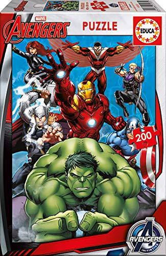 Educa - Avengers, Puzzle infantil de 200 piezas, a partir de