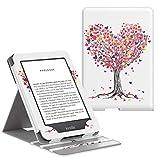 MoKo Étui Compatible avec Liseuse Kindle(10ème génération 2019 et 8ème génération 2016), étui de Retournement Vertical avec Rétro-éclairage, Pas Compatible avec Kindle Paperwhite - Arbre Banian Vert