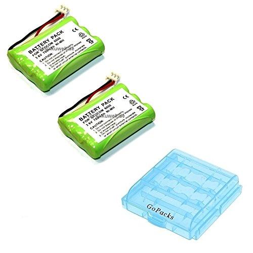 Gopacks 2x Batería de repuesto para B & O Beocom 600070AAAH3BMXZ gp70aaah3bmxz batería/batería caja para 4x Micro/Mignon (AAA/AA) celdas Accu batería battery Bateria batería
