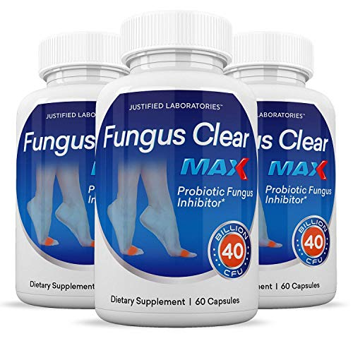 (3 Pack) Fungus Clear Max Pills 40 Billion CFU Probiotic Supports Strong Healthy Natural Clear Nails 180 Capsules