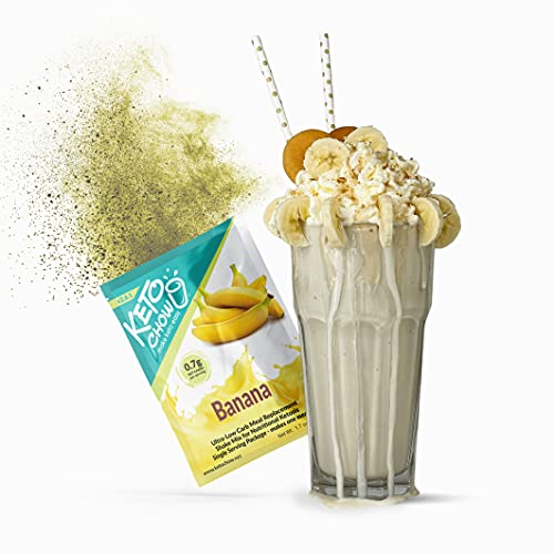 Keto Chow   Keto Meal Replacement Shake   Nutritionally Complete   Low Carb   Delicious Easy Meal Substitute   You Choose The Fat   Banana   Single Meal Sample