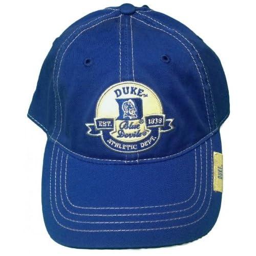 Duke University Blue Devils Adjustable Buckle Back Hat Embroidered Cap 45180896331a