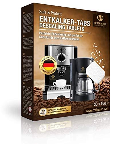 Coffeeano 20x Entkalkungstabletten XL für Kaffeevollautomaten und Kaffeemaschinen. Entkalkungs-Tabs kompatibel mit Jura, Siemens, Krups, Bosch, Miele, Melitta, WMF uvm.