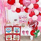 Suministros de decoración para fiestas de San Valentín, LOVE Globos Cajas Bloques Decoraciones Set Rosa Azul búhos oso para San Valentín Caja sorpresa Boda Despedida de soltera Photo Props Favores