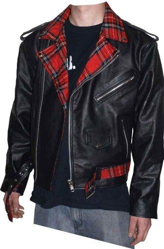 Hard Leather Lederjacke Tartan Classic, schwarz, Grösse XXL