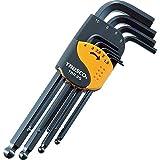 TRUSCO(トラスコ) ボールポイント六角棒レンチセット 標準タイプ 9本組 TBR-9S
